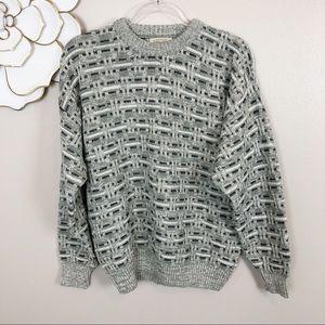 Chunky basket weave textured sweater St John's Bay